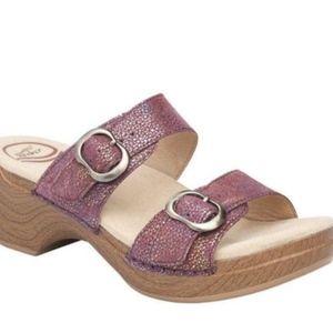 Size 10 / 40 Dansko Sophie Purple Slip On Sandals